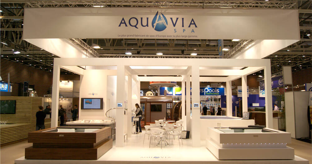 aquavia spa nella mostra internazionale piscine lyon 2014. Black Bedroom Furniture Sets. Home Design Ideas