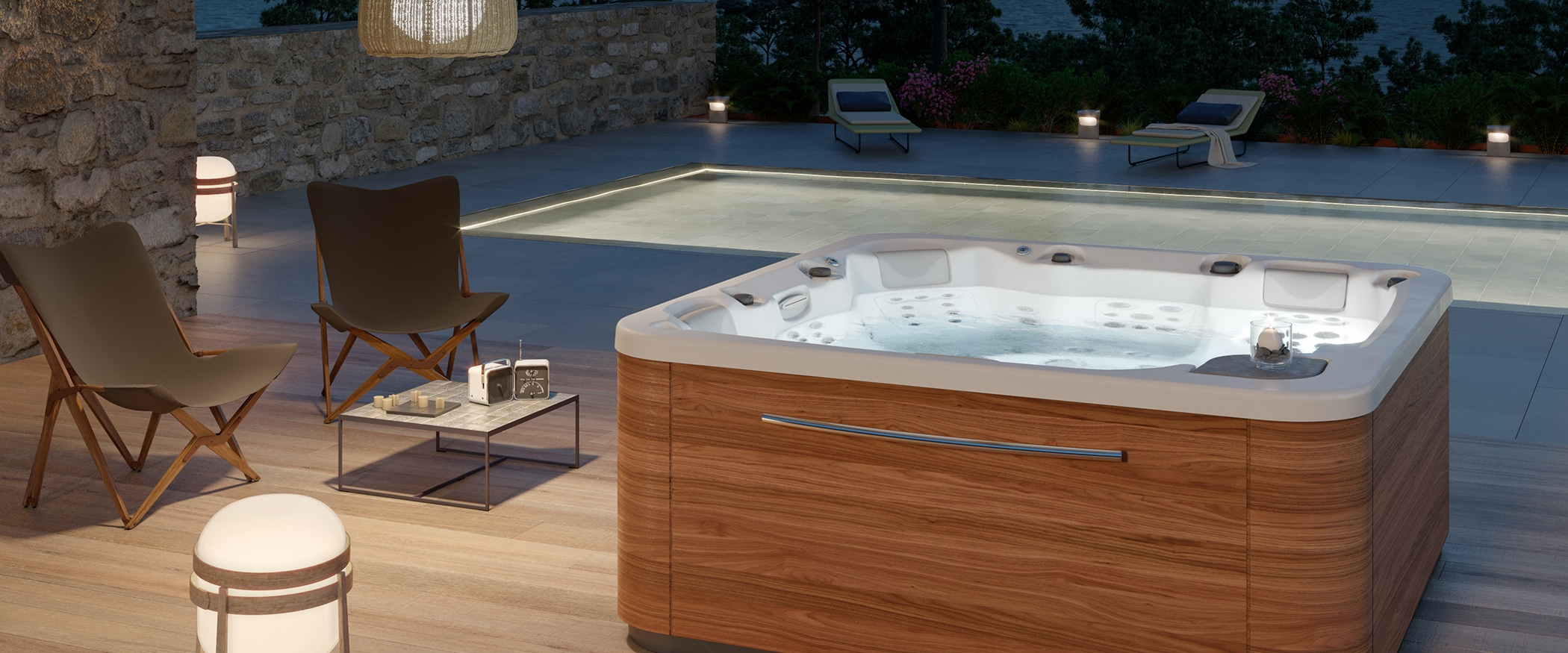 Spa jacuzzi Essence 5 plazas lateral Aquavia Spa
